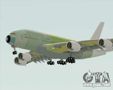 Airbus A380-800 F-WWDD Not Painted for GTA San Andreas right view