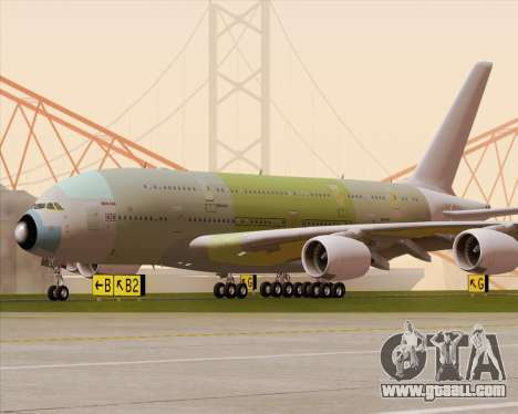 Airbus A380-800 F-WWDD Not Painted for GTA San Andreas upper view