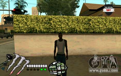 C-HUD Monster Energy for GTA San Andreas third screenshot