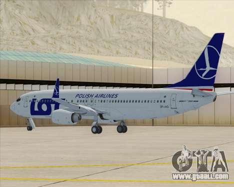Boeing 737-800 LOT Polish Airlines for GTA San Andreas left view