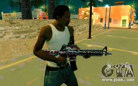 M4A1 (Looney) for GTA San Andreas second screenshot
