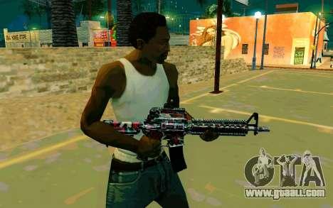 M4A1 (Looney) for GTA San Andreas second screenshot