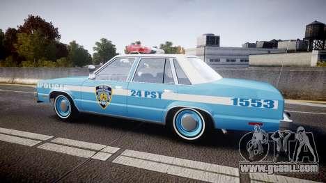 Ford Fairmont 1978 Police v1.1 for GTA 4 left view