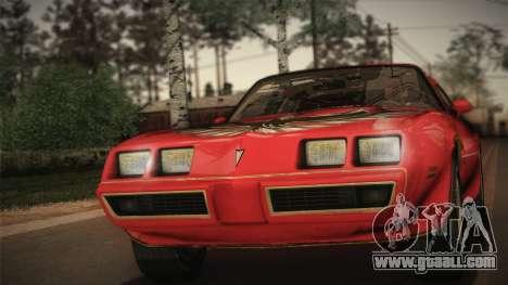 Pontiac Turbo Trans Am 1980 Bandit Edition for GTA San Andreas