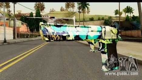 Grafiti Desert Eagle for GTA San Andreas