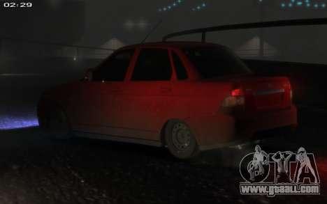 Lada 2170 Priora for GTA 4 side view