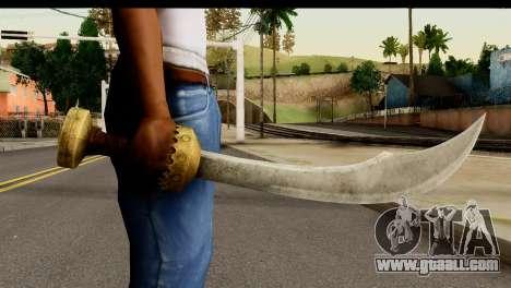 Scimitar Sword From Skyrim for GTA San Andreas third screenshot