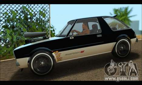 Declasse Rhapsody (GTA V) (SA Mobile) for GTA San Andreas left view