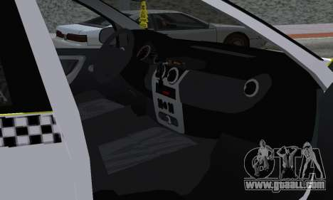 Dacia Logan Taxi for GTA San Andreas interior