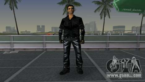 Tommi Black Skin for GTA Vice City third screenshot