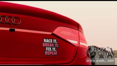 Audi S4 2010 Blacktop for GTA San Andreas back view