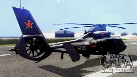 Harbin Z-9 BF4 for GTA San Andreas left view