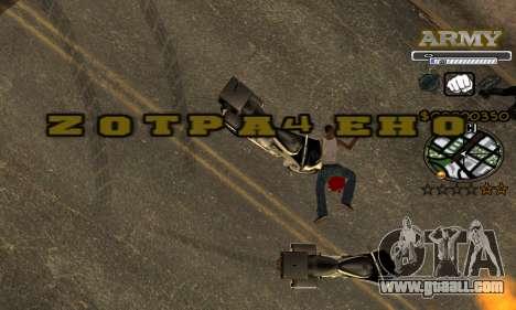 C-HUD Army for GTA San Andreas seventh screenshot