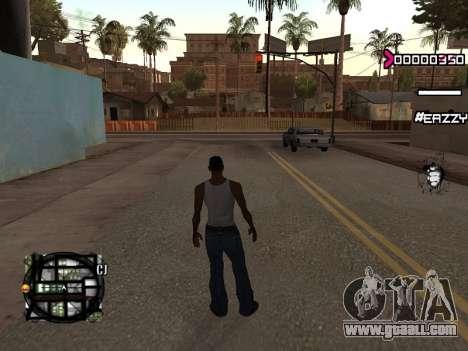 C-HUD WanTed for GTA San Andreas second screenshot