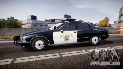 Chevrolet Caprice Highway Patrol [ELS] for GTA 4 left view