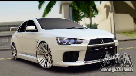 Mitsubishi Lancer X RE-Racing Edition for GTA San Andreas