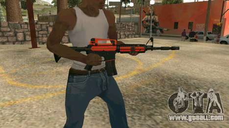 Orange M4A1 for GTA San Andreas forth screenshot