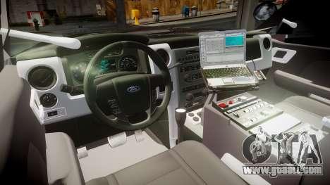 Ford Explorer 2008 Police [ELS] for GTA 4 back view