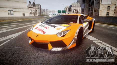 Lamborghini Aventador 2012 [EPM] Hankook Orange for GTA 4