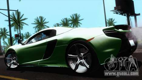 McLaren 650S Spider 2014 for GTA San Andreas back left view