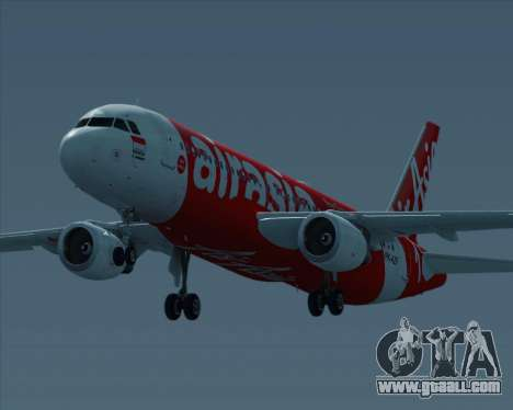 Airbus A320-200 Indonesia AirAsia for GTA San Andreas back view