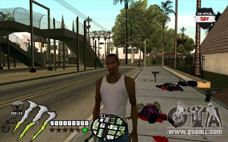 C-HUD Monster Energy for GTA San Andreas second screenshot