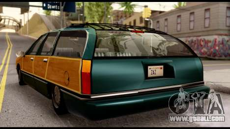 Elegant Station Wagon with Wood Panels for GTA San Andreas back left view