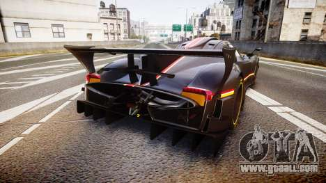 Pagani Zonda Revolution 2013 for GTA 4 back left view