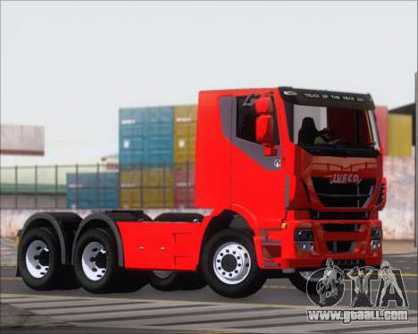 Iveco Stralis HiWay 6x4 for GTA San Andreas bottom view