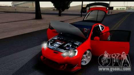 Honda Integra Type R Time Attack HQLM for GTA San Andreas back view