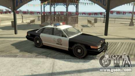 GTA V Vapid Stanier Police Cruiser for GTA 4