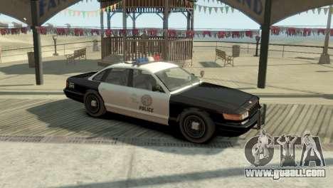 GTA V Vapid Stanier Police Cruiser for GTA 4