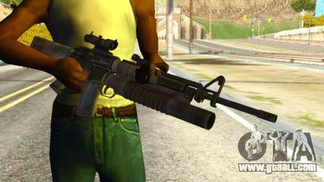Assault Rifle from Global Ops: Commando Libya for GTA San Andreas third screenshot
