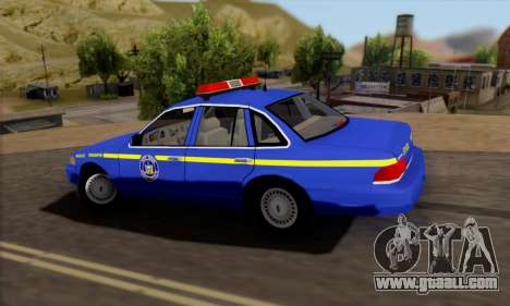 Ford Crown Victoria 1992 State Patrol for GTA San Andreas left view