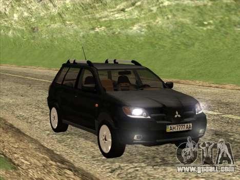 Mitsubishi Outlander for GTA San Andreas inner view