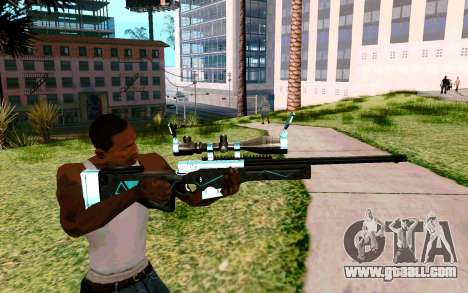 Blue Line Sniper for GTA San Andreas third screenshot
