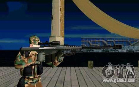 Barret M107 for GTA San Andreas third screenshot