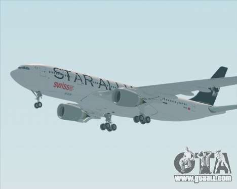 Airbus A330-200 SWISS (Star Alliance Livery) for GTA San Andreas right view