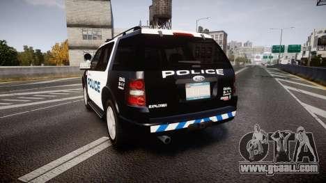 Ford Explorer 2008 Police [ELS] for GTA 4 back left view