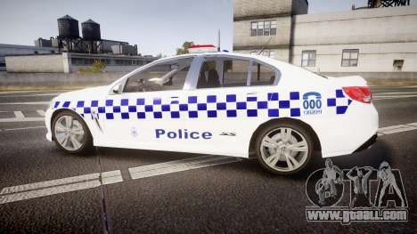 Holden VF Commodore SS Victorian Police [ELS] for GTA 4 left view