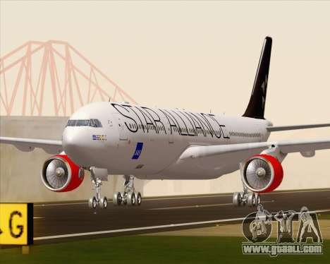 Airbus A330-300 SAS Star Alliance Livery for GTA San Andreas left view