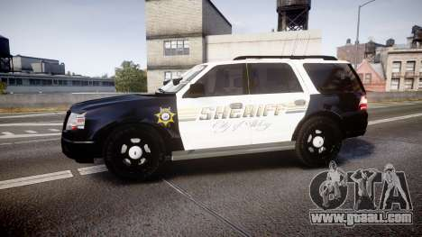 Ford Expedition 2010 Sheriff [ELS] for GTA 4 left view