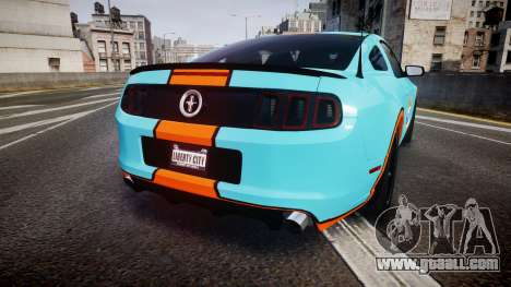 Ford Mustang Boss 302 2013 Gulf for GTA 4 back left view