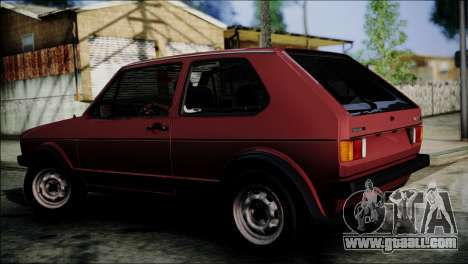 Volkswagen Golf Mk1 GTD for GTA San Andreas left view