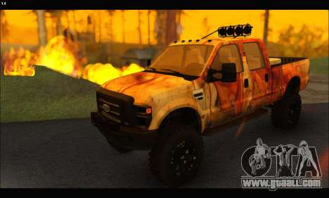 Ford F-250 Rusty Lifted 2010 for GTA San Andreas back left view