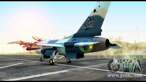 F-16 Aggressor Alaska for GTA San Andreas left view
