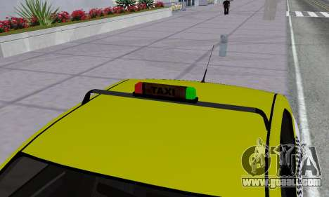 Dacia Logan Taxi for GTA San Andreas wheels