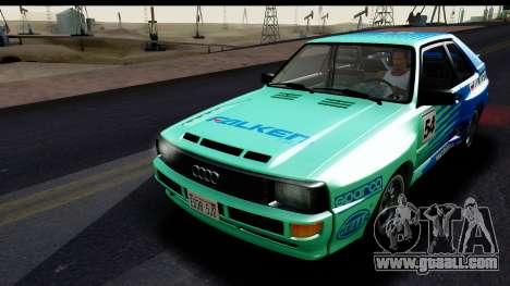 Audi Sport Quattro B2 (Typ 85Q) 1983 [HQLM] for GTA San Andreas side view
