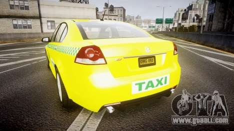 Holden Commodore Omega Series II Taxi v3.0 for GTA 4 back left view