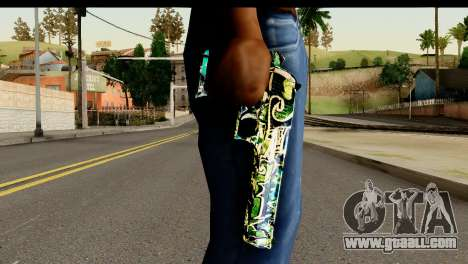 Grafiti Desert Eagle for GTA San Andreas third screenshot